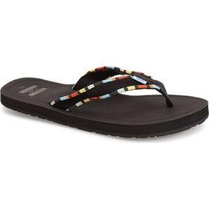 Womens Solana Multi Color Toms Flip Flops